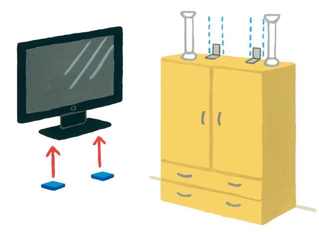 2カ所以上の固定が必須!家具・家電の「タイプ別防災対策」