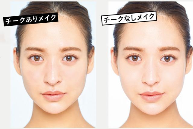 目からあごまでの距離で「顔の印象」は変わります。モデル・野崎萌香さんの「頬下を短く見せるチークの入れ方」