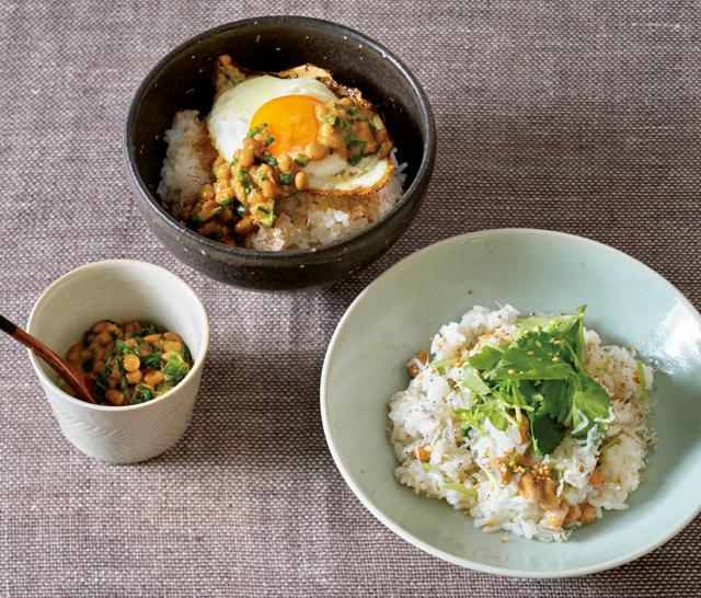 にんにくとにらでスタミナアップ! 「酢納豆」を使った「目玉焼きのっけ養生だれ丼」