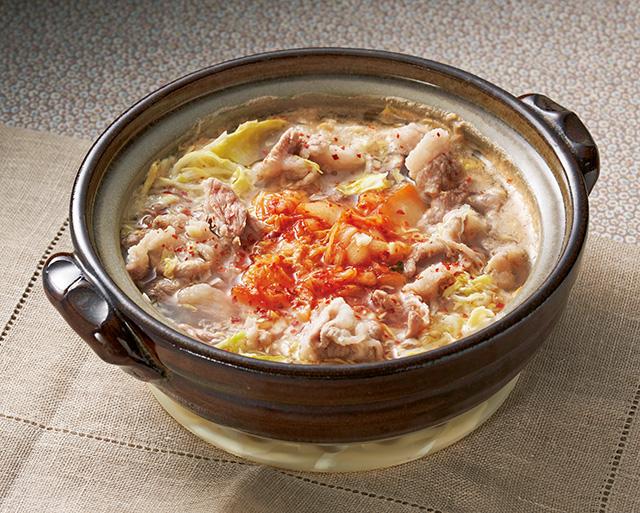 酢キャベツの甘みと酸味を活かしたメイン料理! おいしさも健康要素も抜群の「えびチリ&キムチ鍋」
