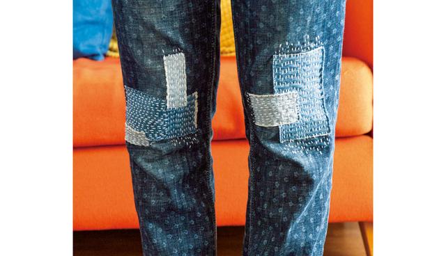 デニムのひざが薄くなったら...「ハギレでステッチ」してみませんか?/おしゃれに繕う