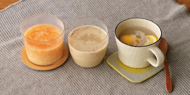 乾燥が気になる季節です。食材にこだわったのどや肌をうるおす「手作りホットドリンク」