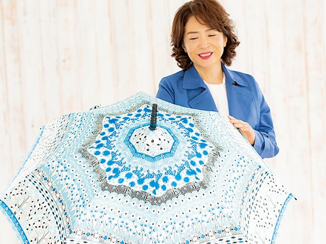 雨の日は「心晴れる明るい傘」で。女優・中田喜子の雨傘コレクション
