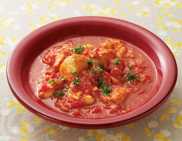 ほどよい酸味が最高!「鶏肉の酢玉ねぎトマト煮」レシピ