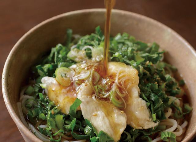 めん類が好き! 生の小松菜たっぷりの絶品ぶっかけうどん/ふたりのごはん
