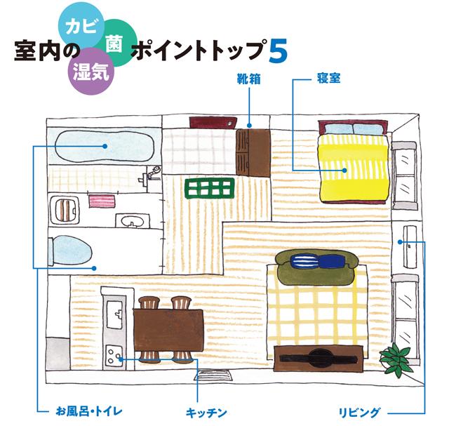 自宅の除菌掃除に!「カビや湿気の温床」になりやすい5つの場所