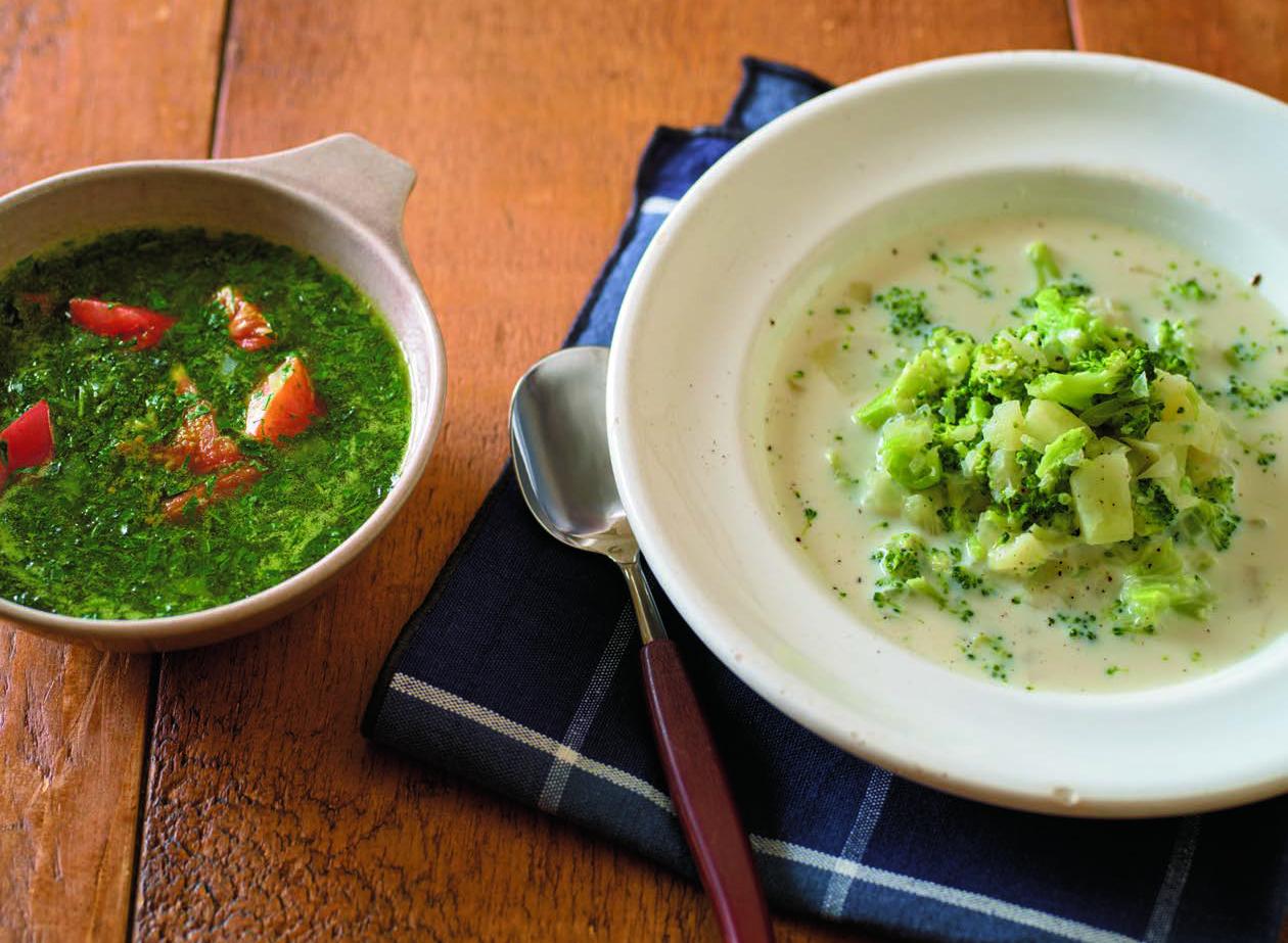 もち麦、ゴボウ、ブロッコリー。腸内環境を整える「食物繊維スープ」4選