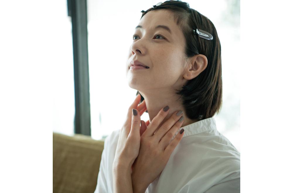 朝は洗顔しないんです。モデルの香菜子さんの「40代からのお肌ケア」
