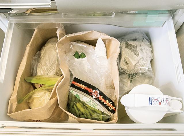 冷蔵庫内のあちこちに散らばる整理用「プラ容器」。本当に必要?