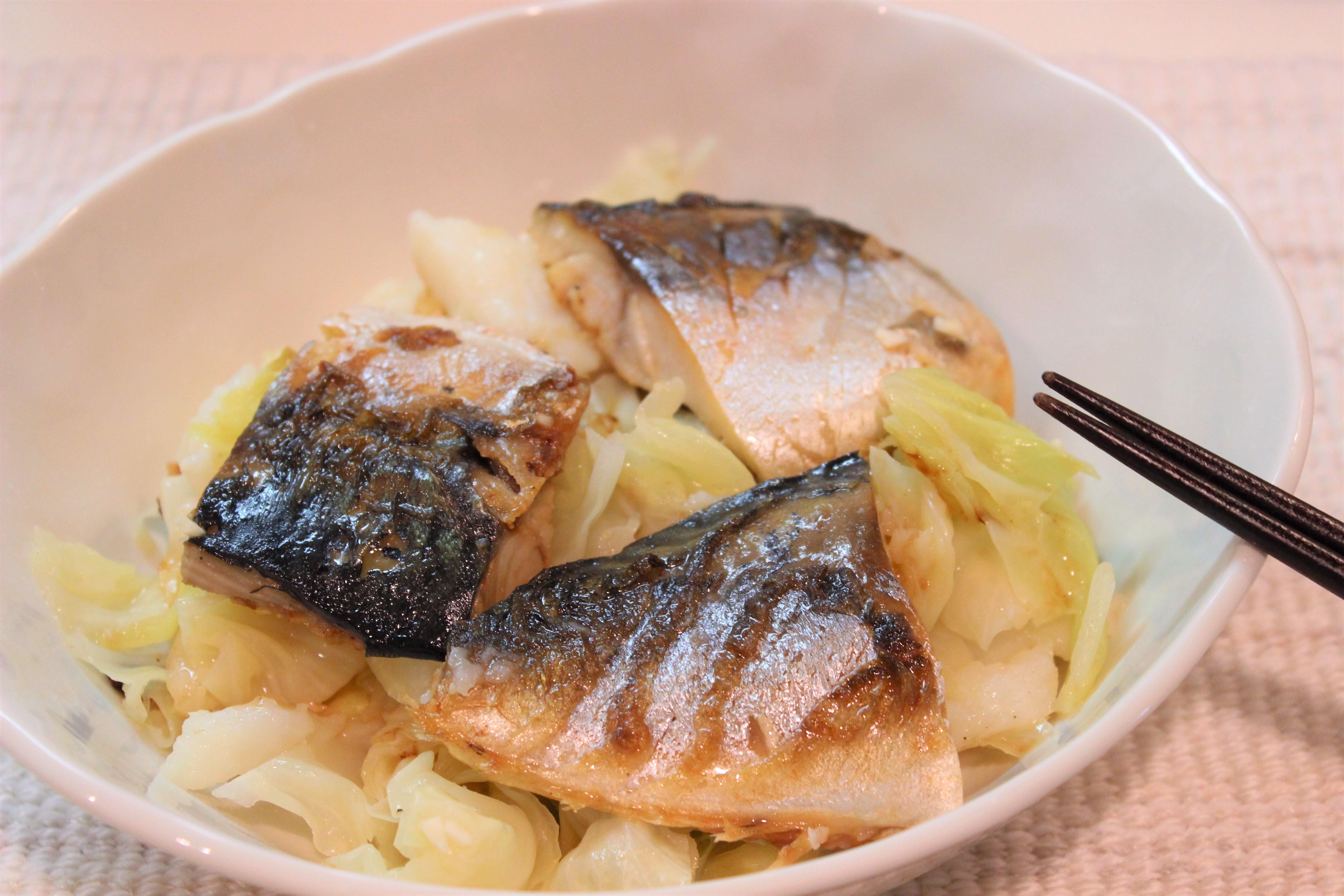 にんにく風味で食がすすむ! 野菜たっぷり栄養満点「さばと長芋の塩煮」