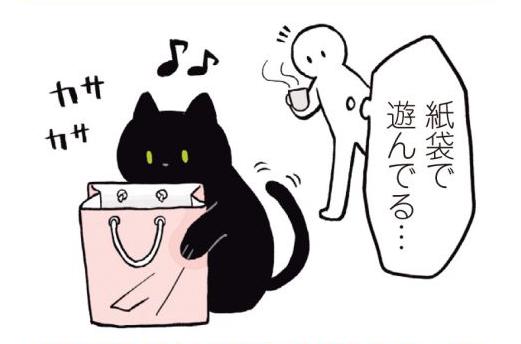 猫に紙袋。好きな遊び道具になるはずが...トラウマに!?/黒猫ろんと暮らしたら