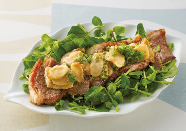 お肉と相性抜群! 酢みそしょうがを使った「ジンジャーステーキ」/しょうがの保存食レシピ(6)